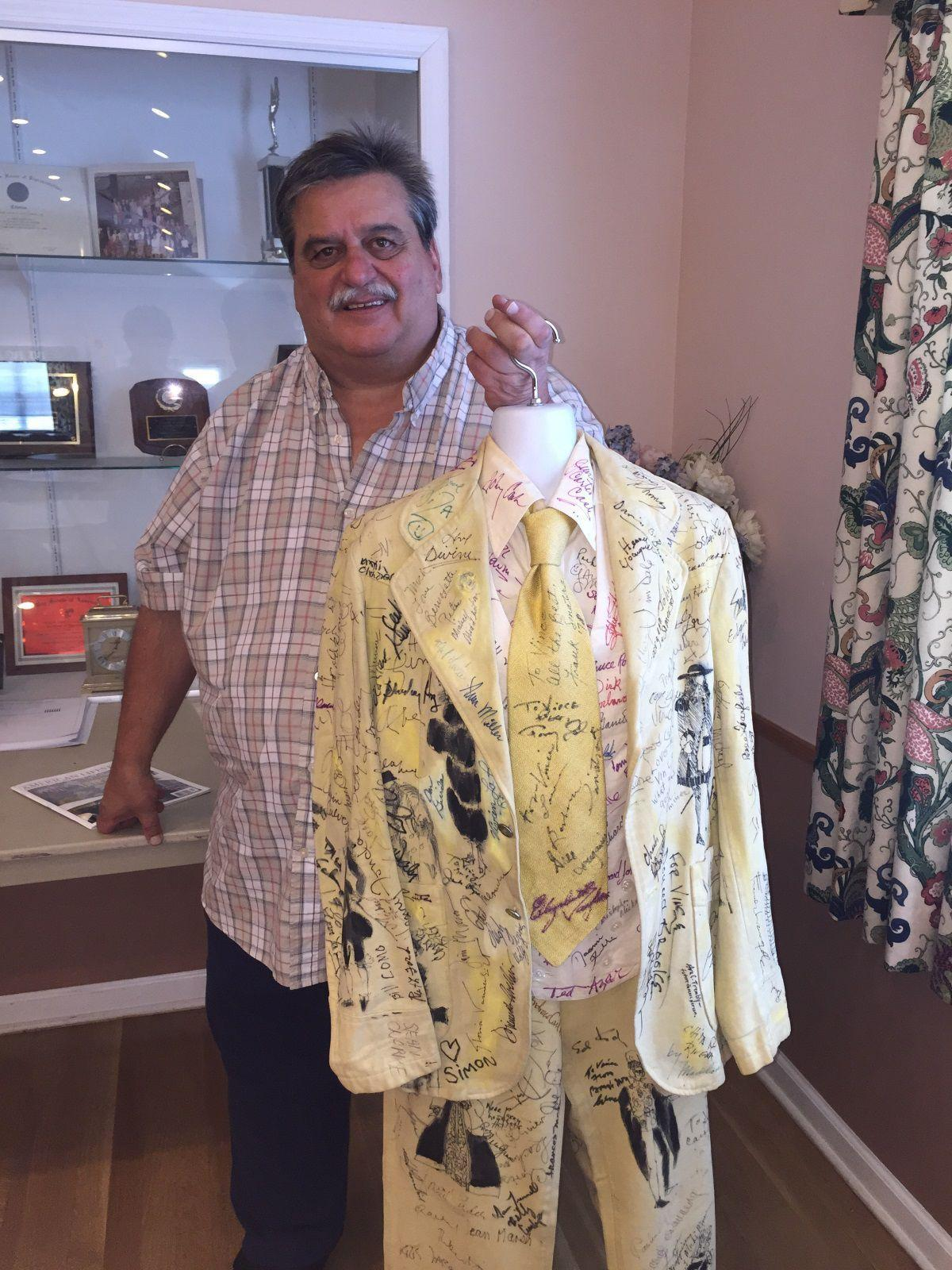 Stirling man regales with tales of autograph suit