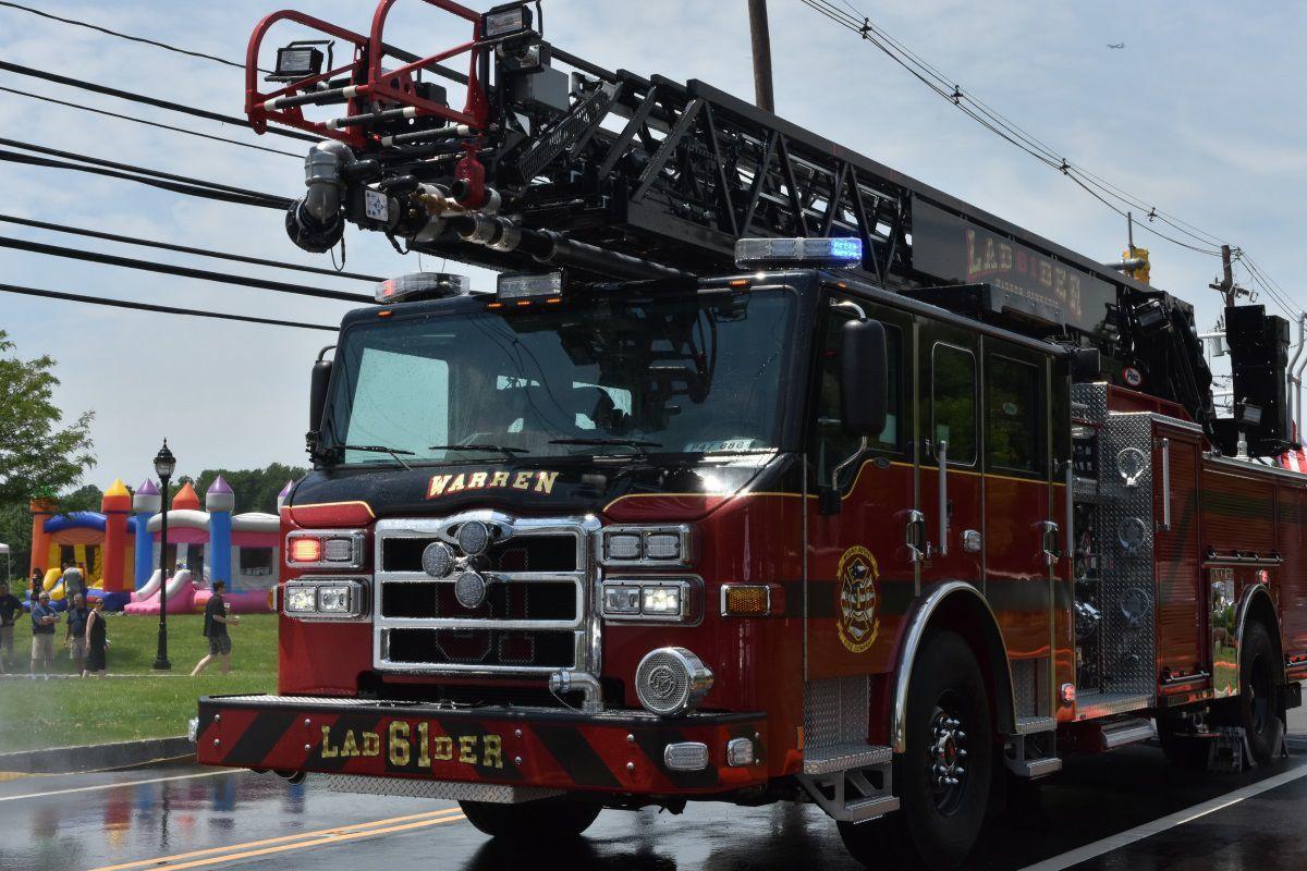 Wetdown in Warren celebrates new ladder truck