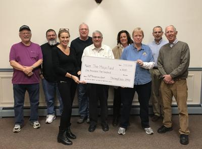Stirling Elks donate $1,500 to Maija Golden foundation