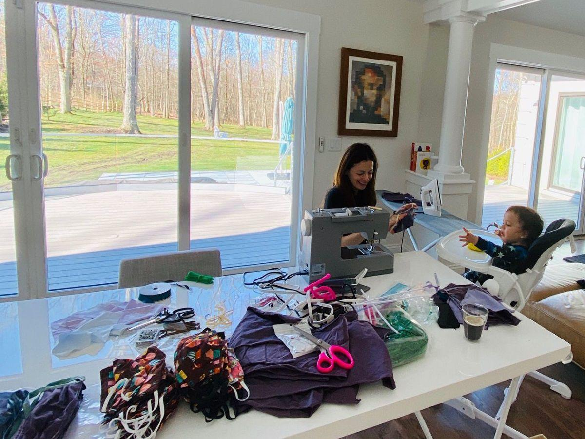 Sewing for frontliners and first responders