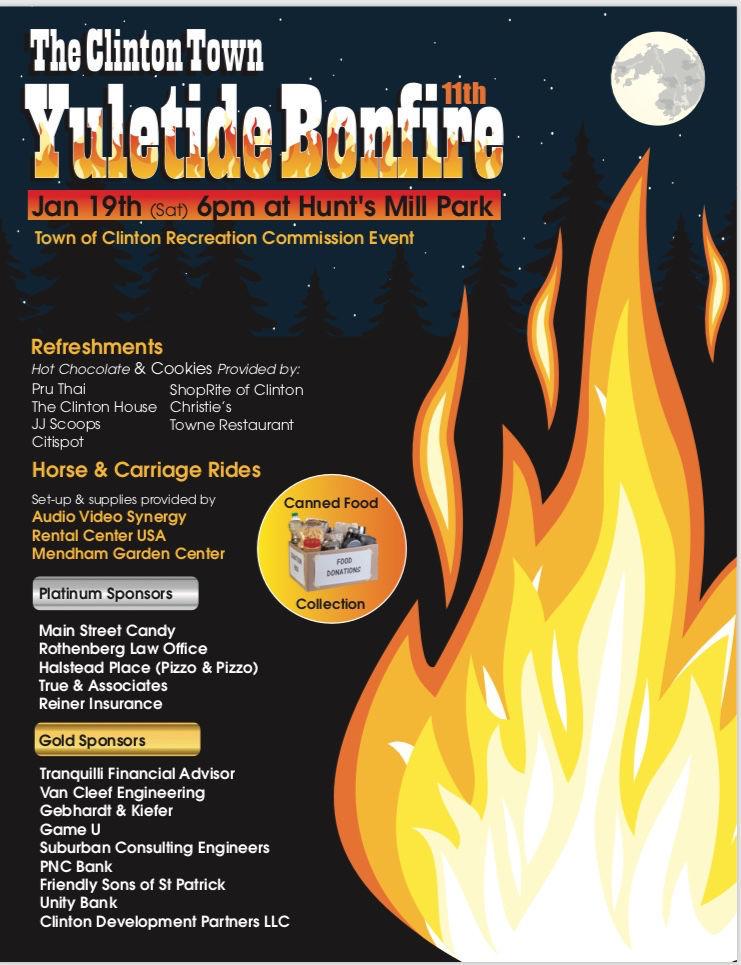 UPDATE: Clinton postpones Yuletide Bonfire to Saturday, Jan. 26