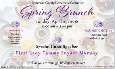 First Lady Tammy Murphy to speak at county Democratic brunch on Sunday, April 29