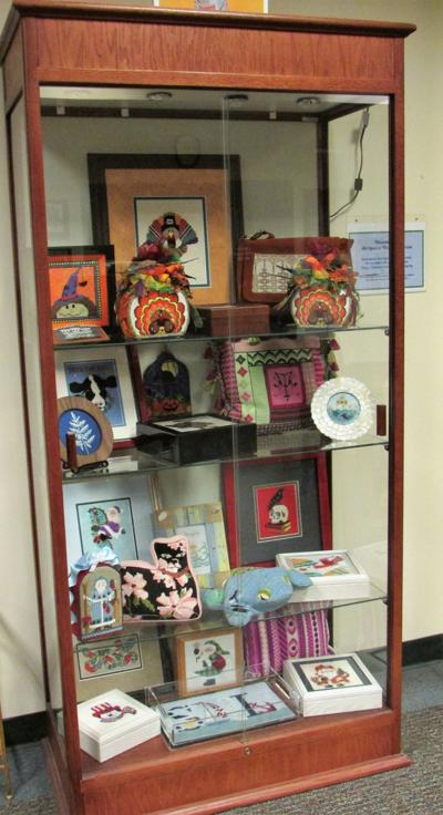 The art of stitching on display at Warren Township Library