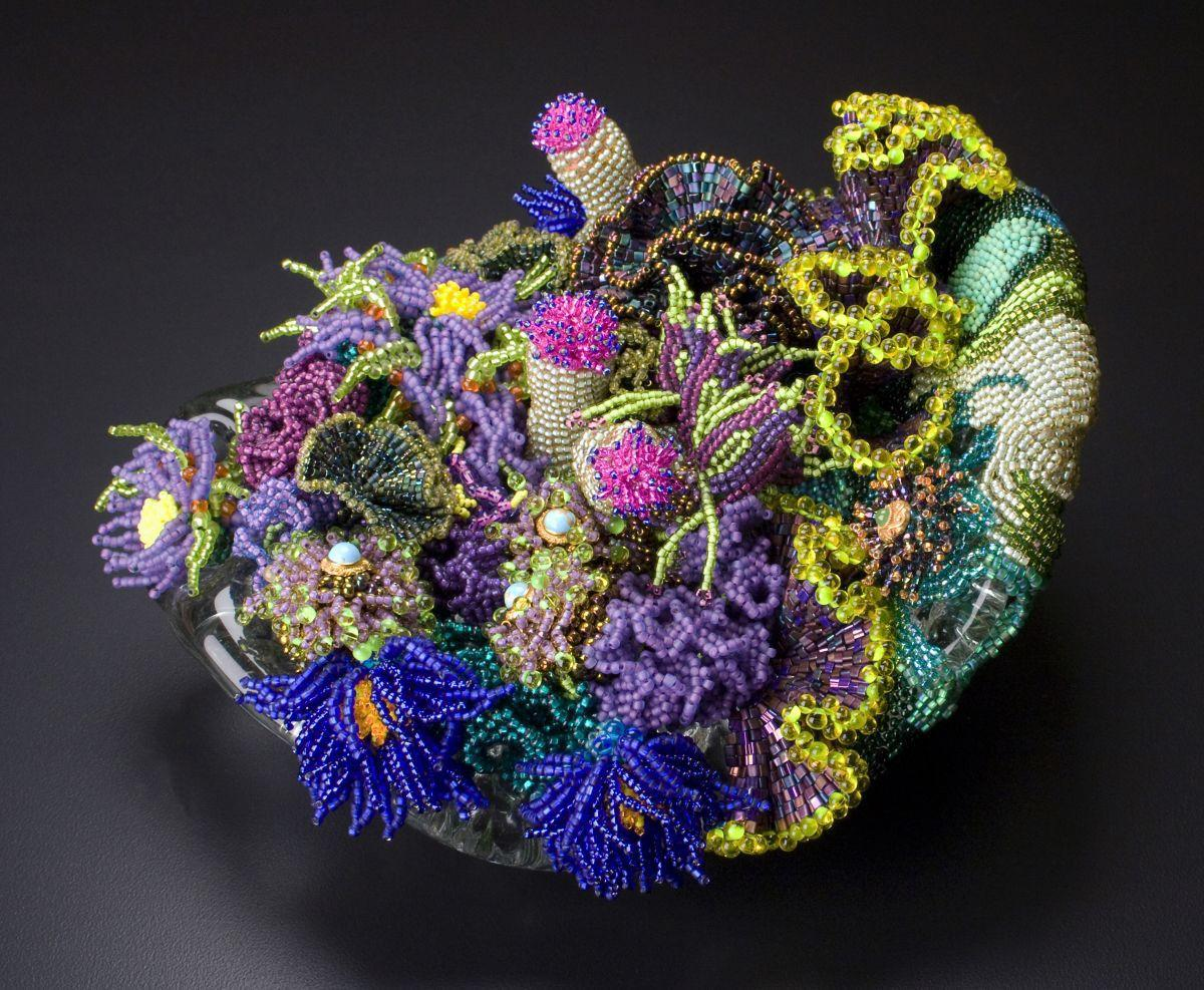 Art museum exhibit shows artist's passion for beads