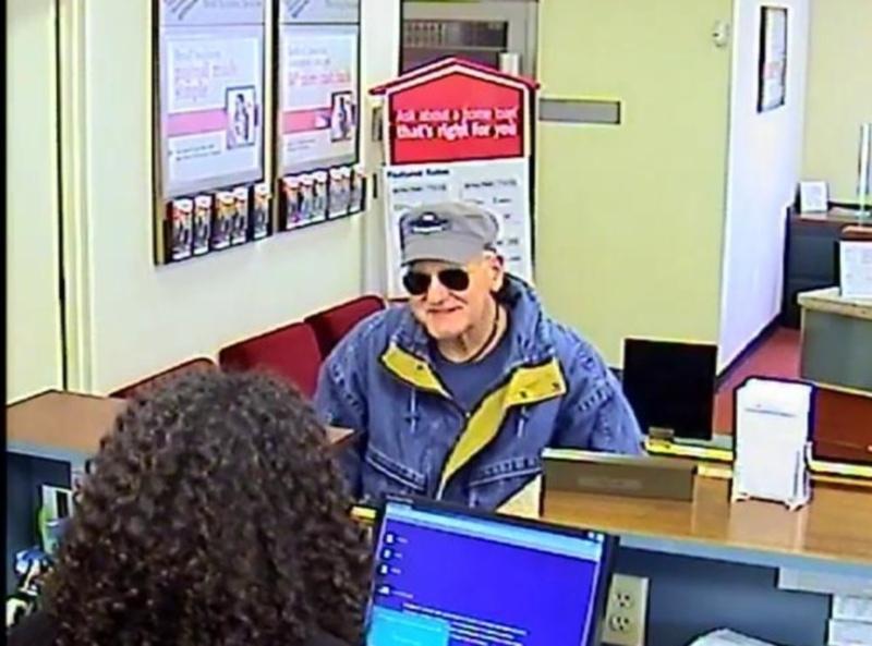 Joihn Gunton caught on camera at Morristown bank