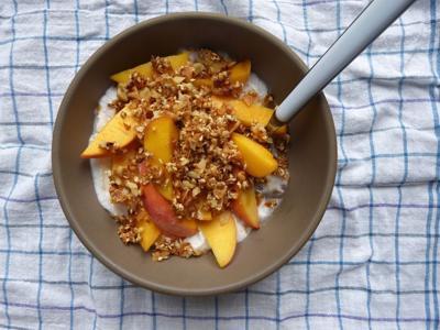 Peaches with Coconut Cream