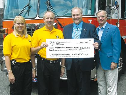 Caldwell rotary support funds new rescue squad gear