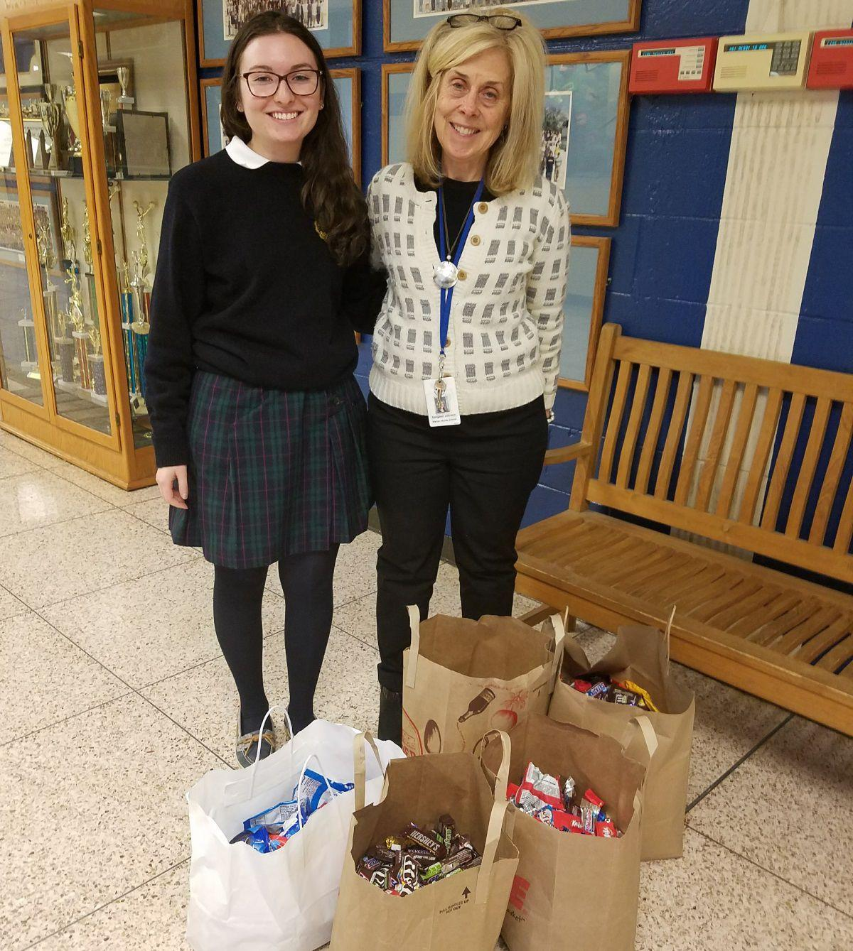 Warren student leads candy drive at Mount Saint Mary