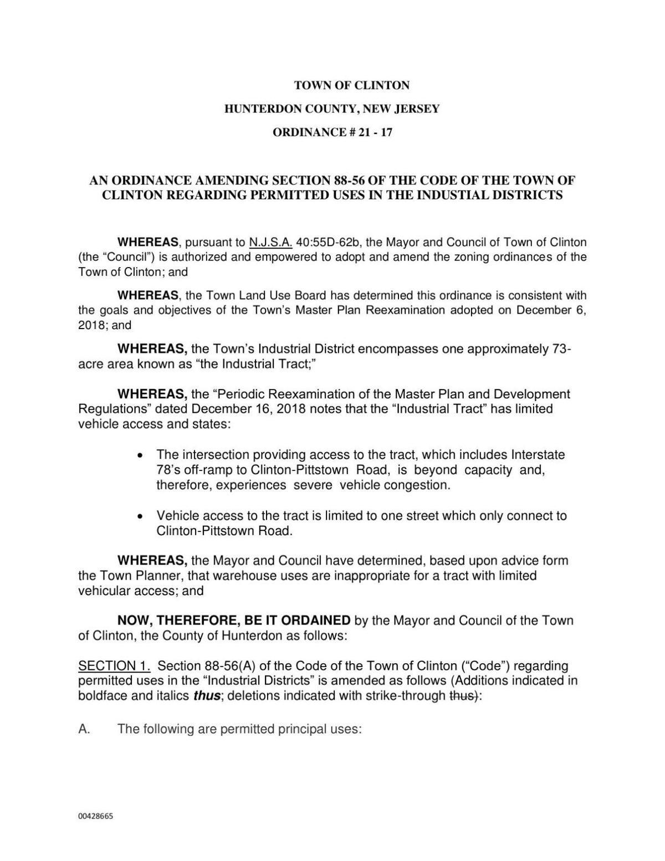 Ord 21-17 Ordinance prohibiting warehouses (00428665xE767A).pdf