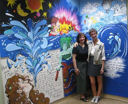 Chester Library gets mural from Gold Award Scout