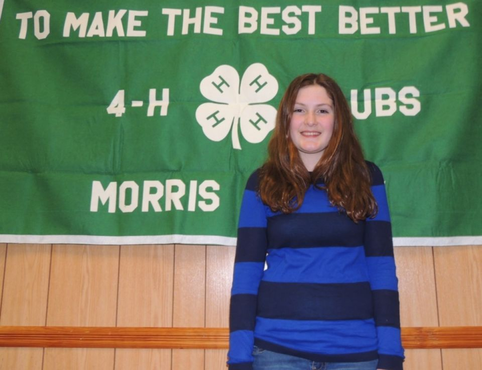 4-H member Claire Dempsey