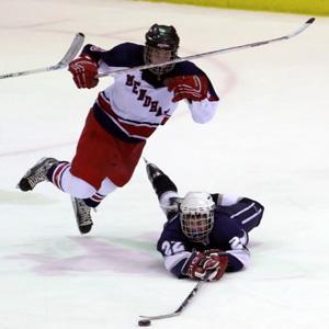 Randolph High School ice hockey team at 2-0-1
