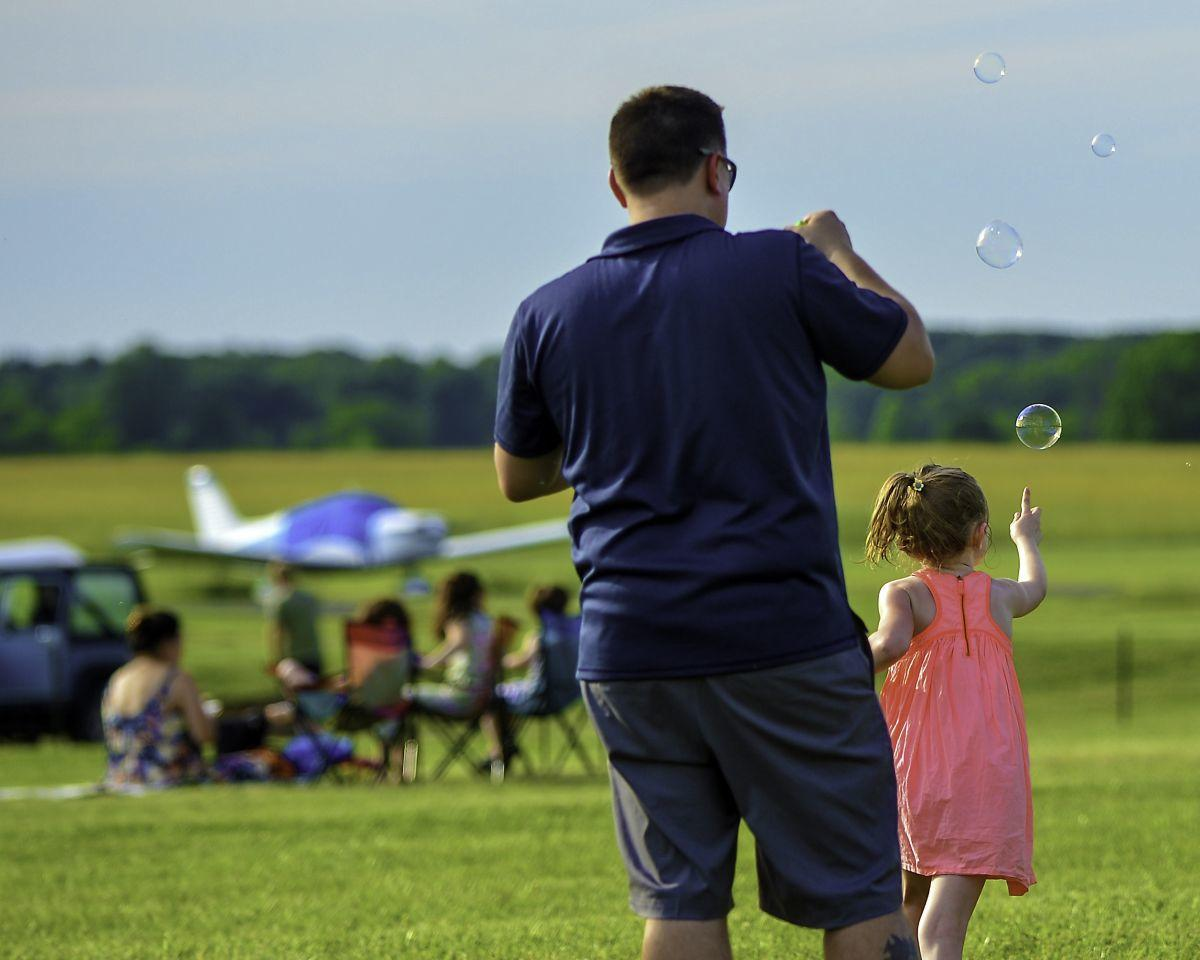 Summer Solstice brings the sun, and people to Solberg Airport