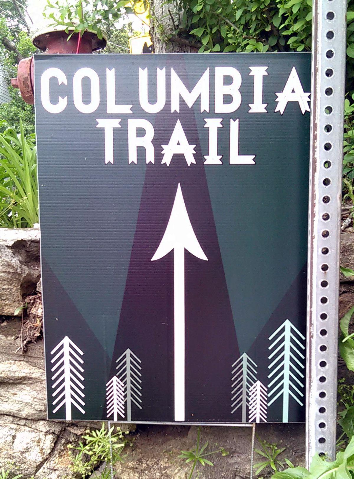 Columbia Trail signs have been posted by High Bridge merchants