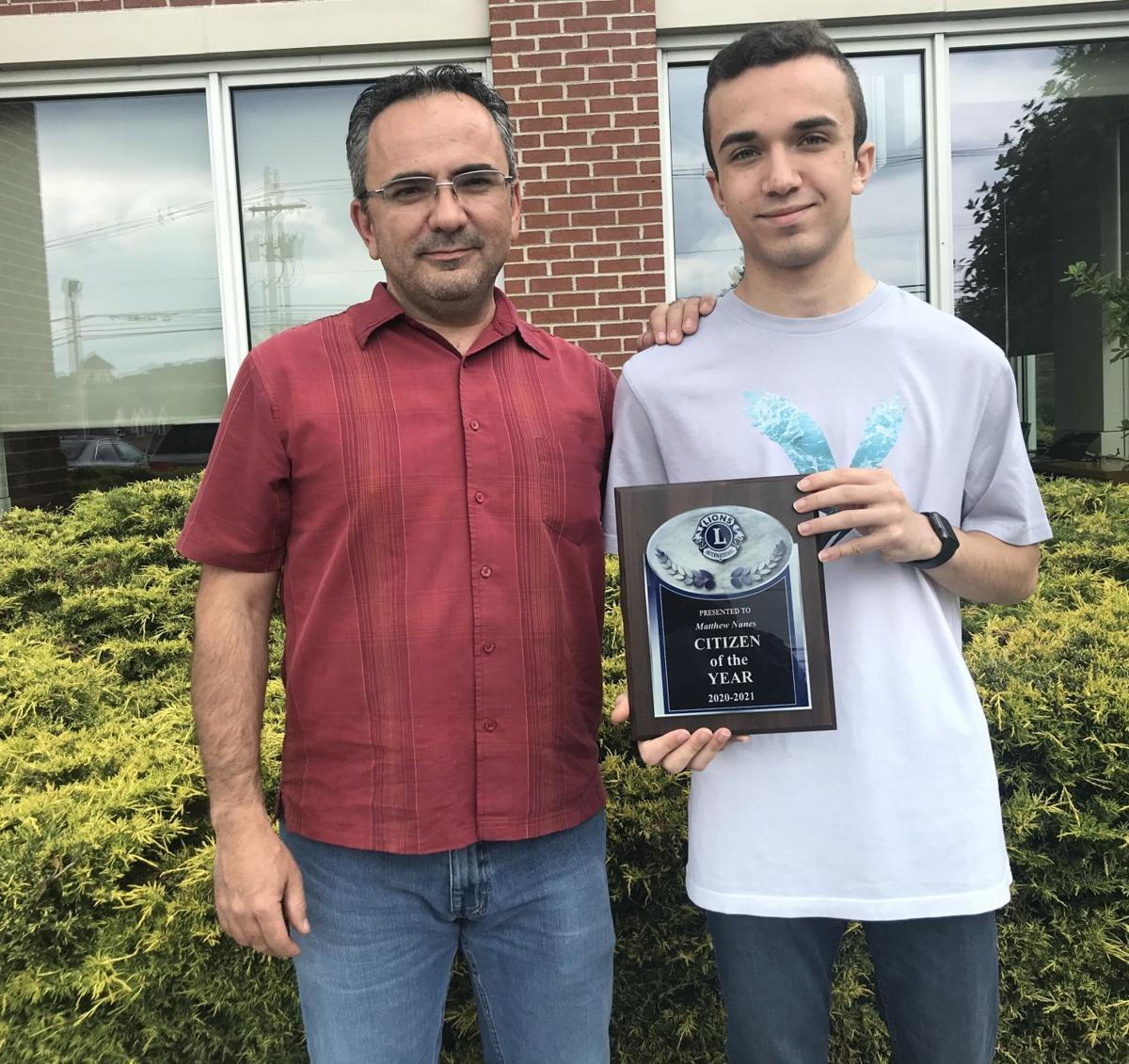 Warren Township teen named Lions Club's 'Citizen of the Year' for face shield effort