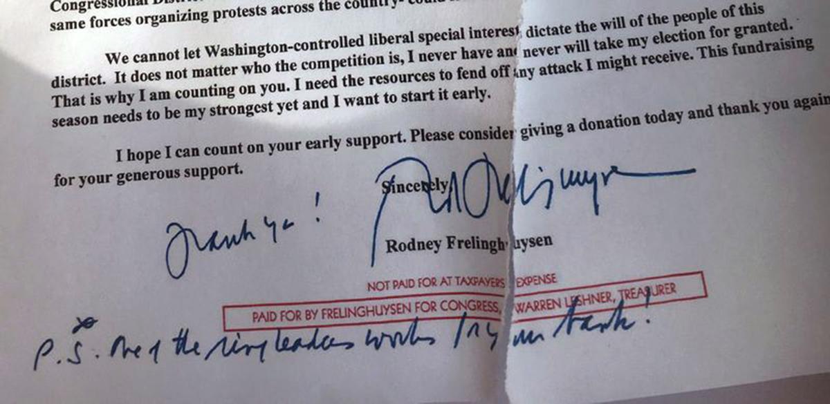 Frelinghuysen letter