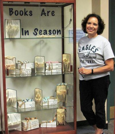Discover the art of 'upcycled' books at Warren Township Library