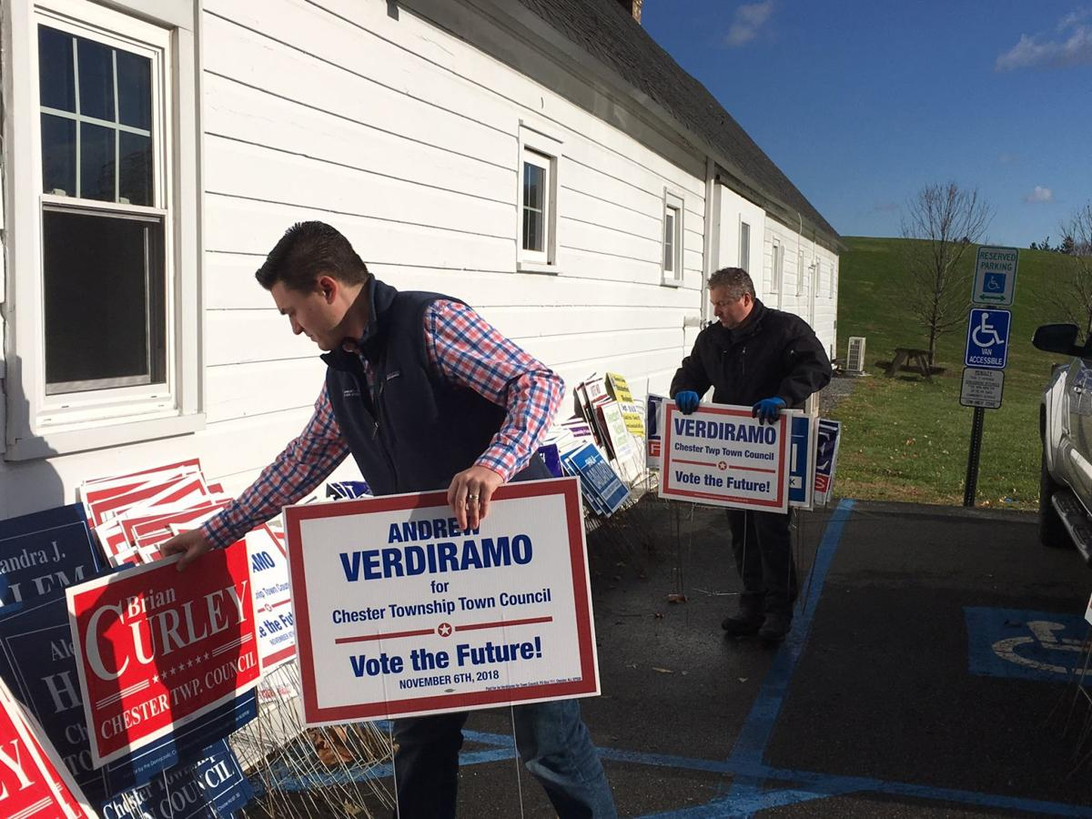 Chester Township candidates gather signs and help local charities