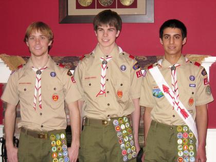 Three Readington Township Boy Scouts become Eagles