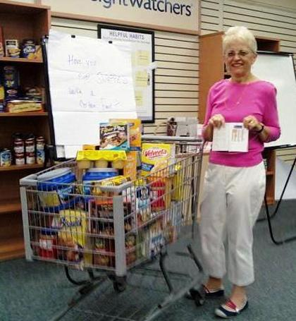 Roxbury woman sheds 130 pounds and donates that much to food pantry