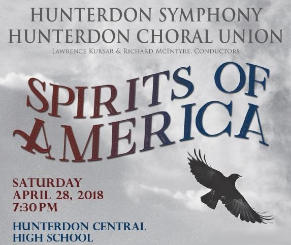 "Hunterdon Symphony, Choral Union present ""Spirits of America"" concert on Saturday, April 28"