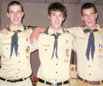 3 brothers earn Eagle Scout rank