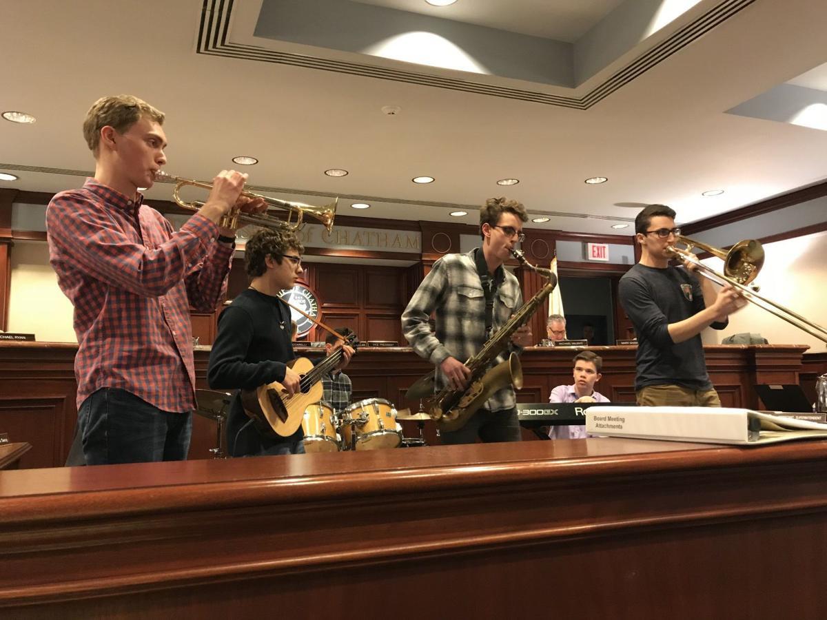 Tony on trombone