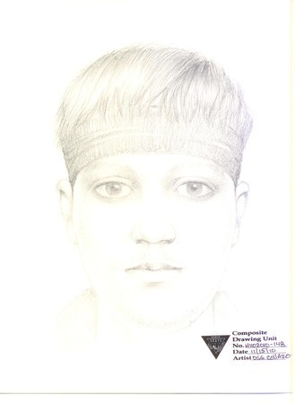 Sketch of a man Caldwell police say brandished a gun while arguing with a group of teens
