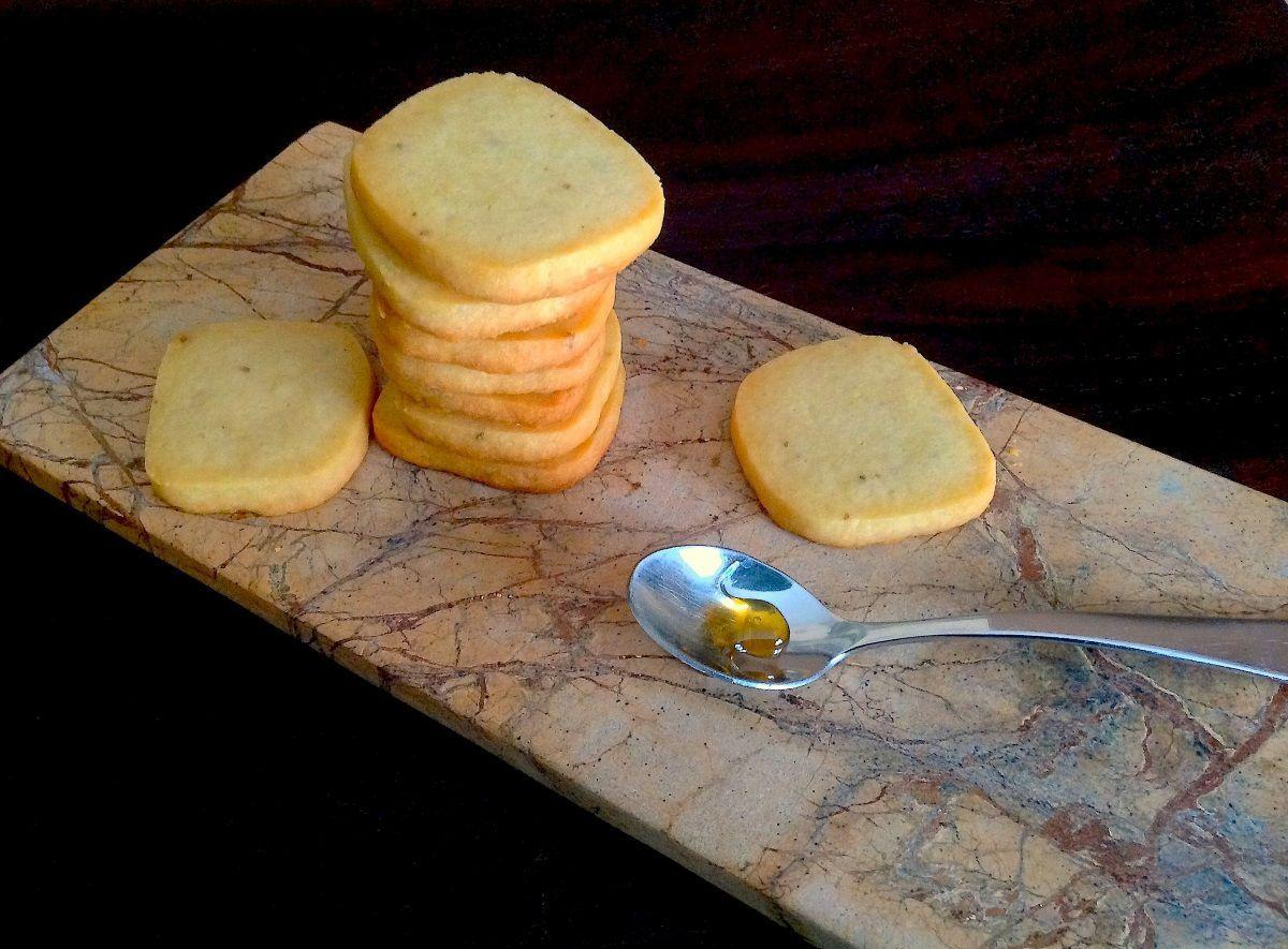 Wildflower Anise Shortbread Cookies by Claire Nines