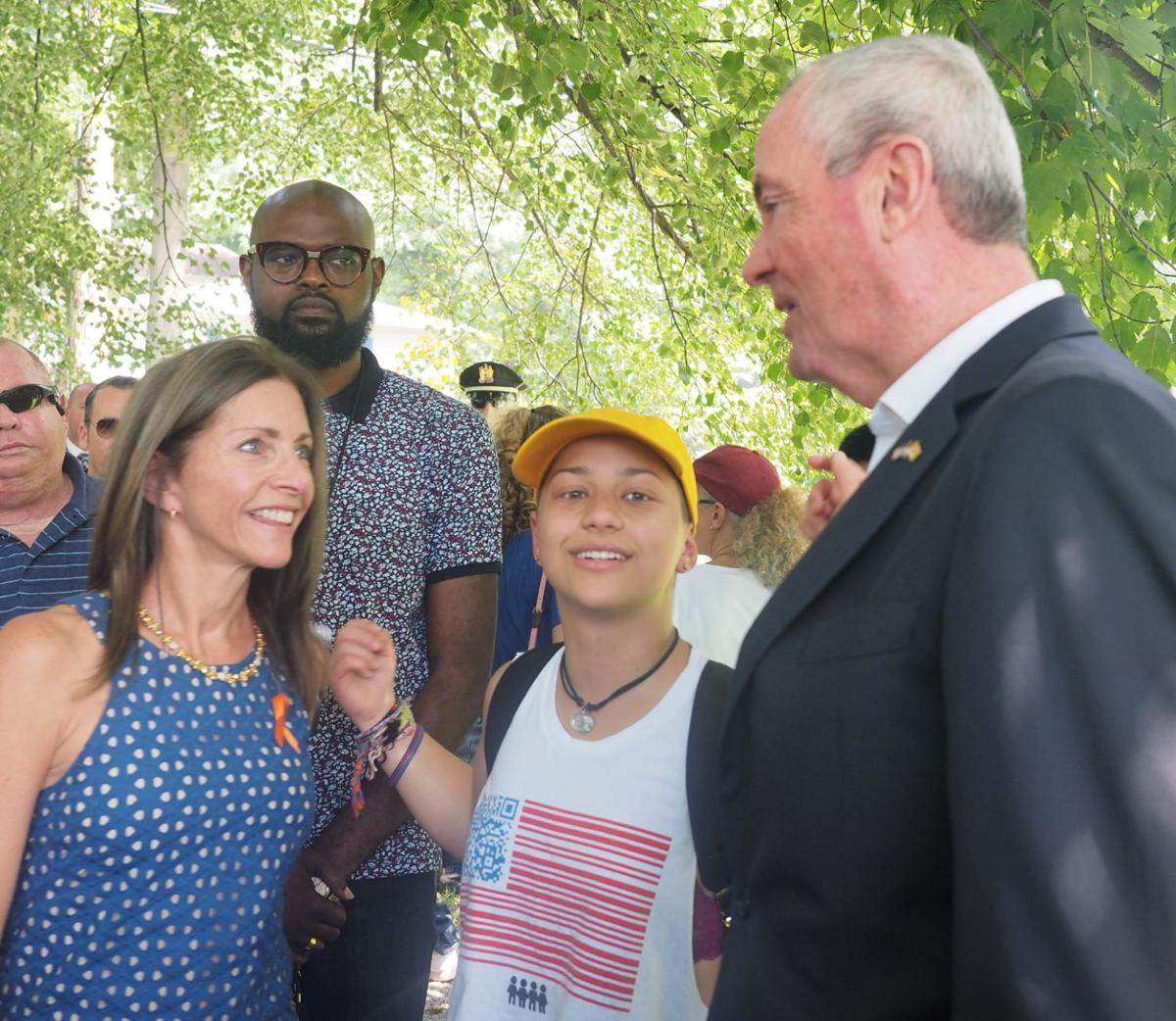 Emma Gonzales with Governor and First Lady