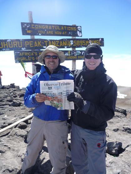 Mendham Father, Son Bond On Kilimanjaro