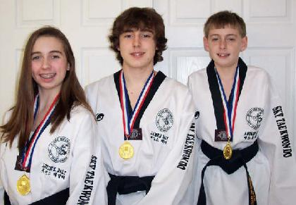 Family achievement in Tae Kwon Do