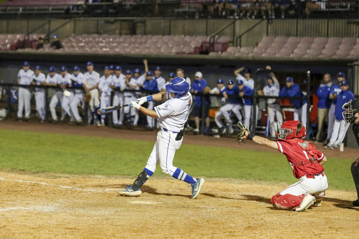 And he swings