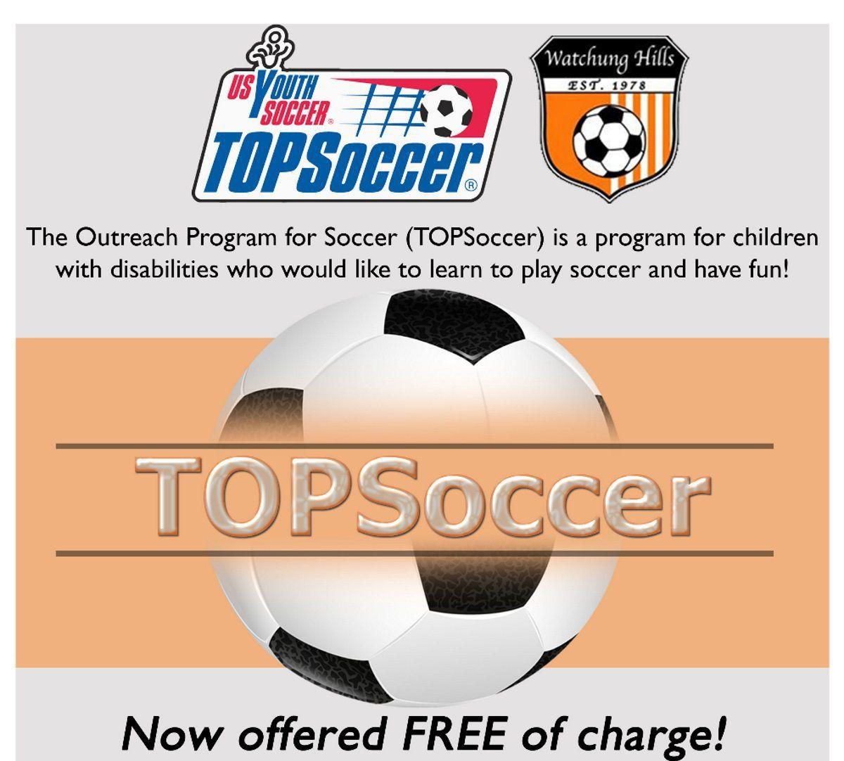 'TOPSoccer' registration opens in the Watchung Hills
