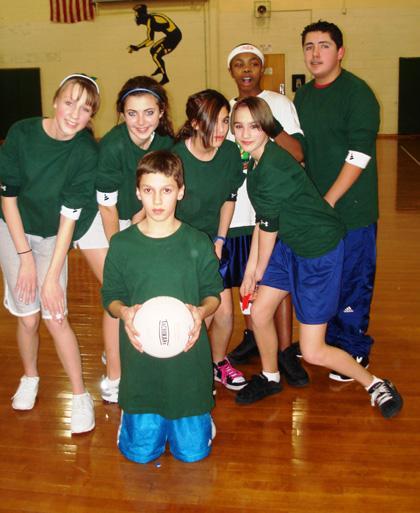 Students take on Mount Arlington teachers in volleyball