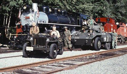 Military vehicles decamp at Whippany Railway Museum Sept. 12