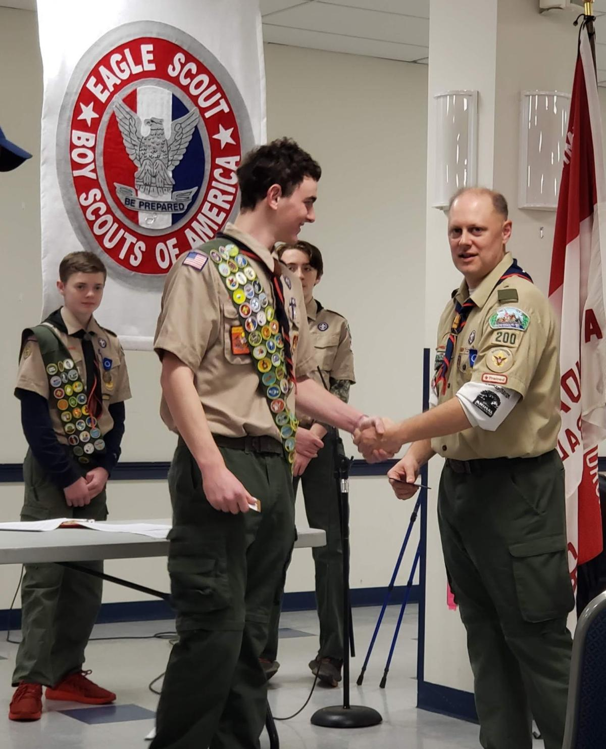 Annandale Boy Scouts recognized at Winter Court of Honor at Immaculate Conception Church