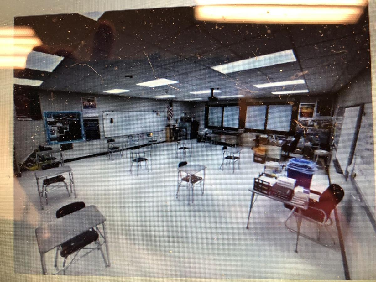 Socially distant classroom