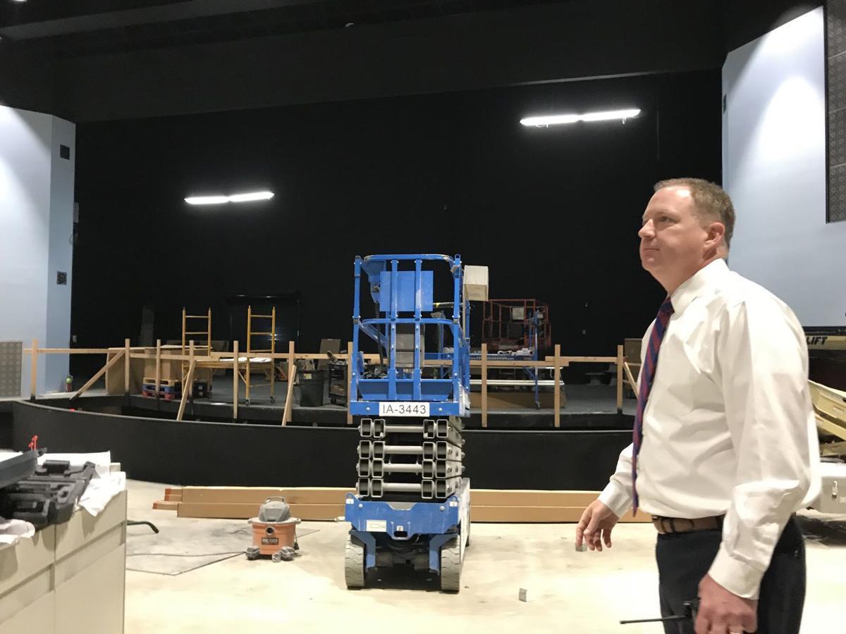 Auditorium under construction