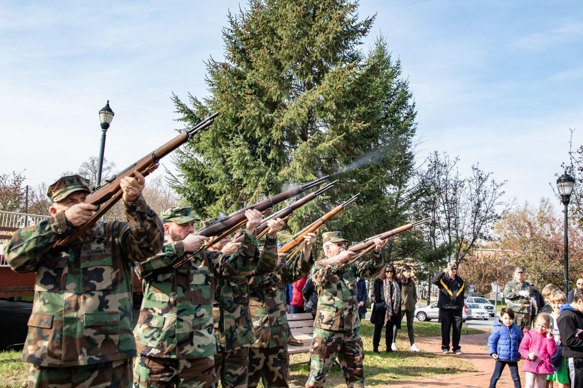 Firing their guns
