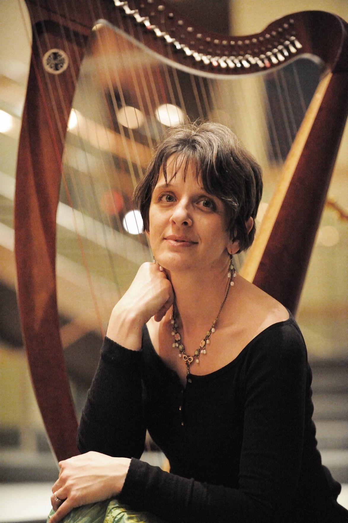 Harpist Odarka Stockert at Farmstead Arts