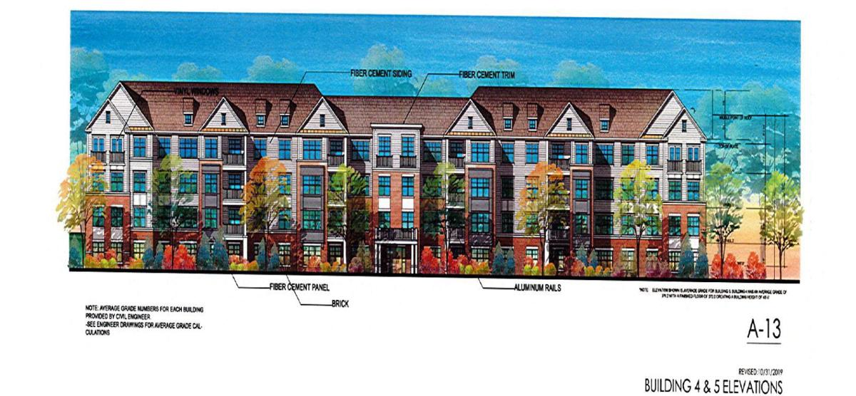 Architectural rendering of buildings four and five