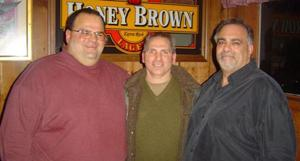 Three local residents, former Montclair State University wrestlers, gather for 2008 reunion