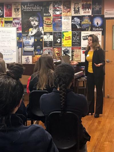 Broadway, film actress shares expertise with Mount Saint Mary students in Watchung