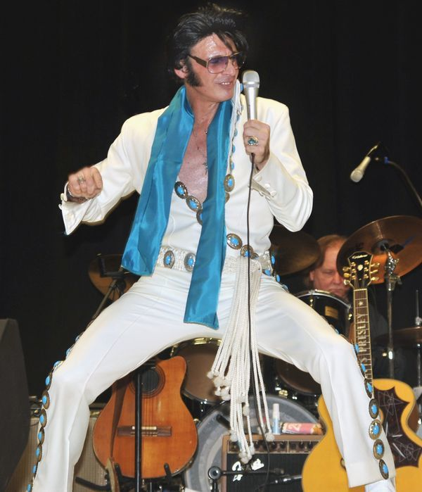 """Anthony Liquori as Elvis will present """"A Tribute To The King"""" on Saturday, March 23, at the Clinton Holiday Inn"""