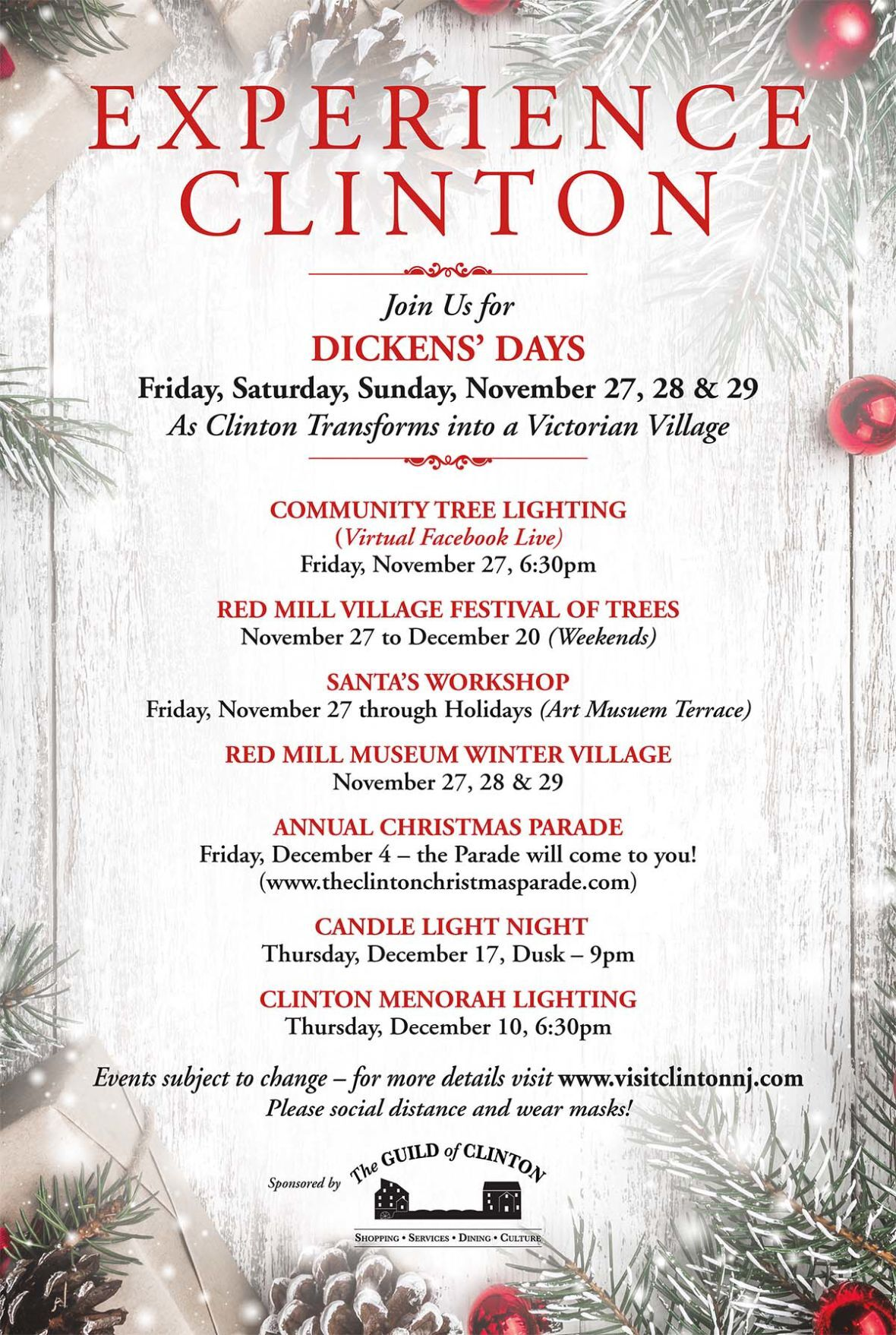 Clinton Guild announces Dickens Days, Christmas Parade and more holiday events