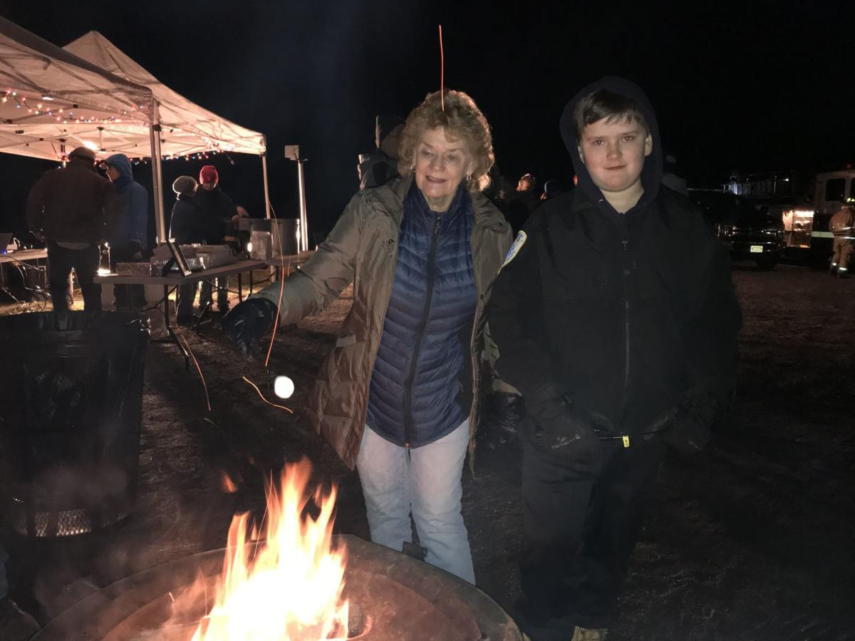 Clinton Town gathers around the 2019 Yuletide Bonfire