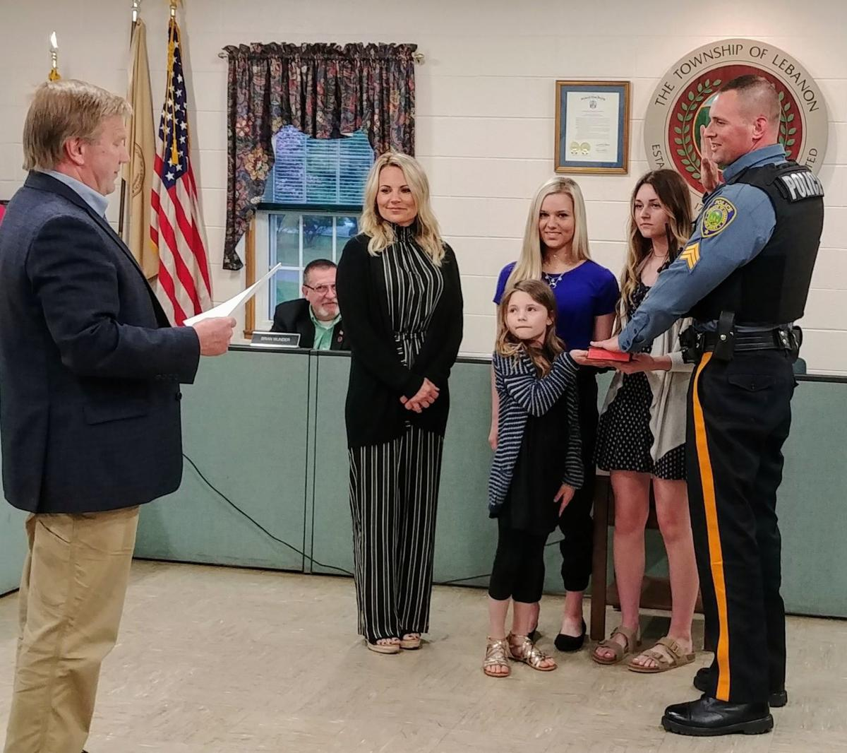 New police sergeant takes his stripes