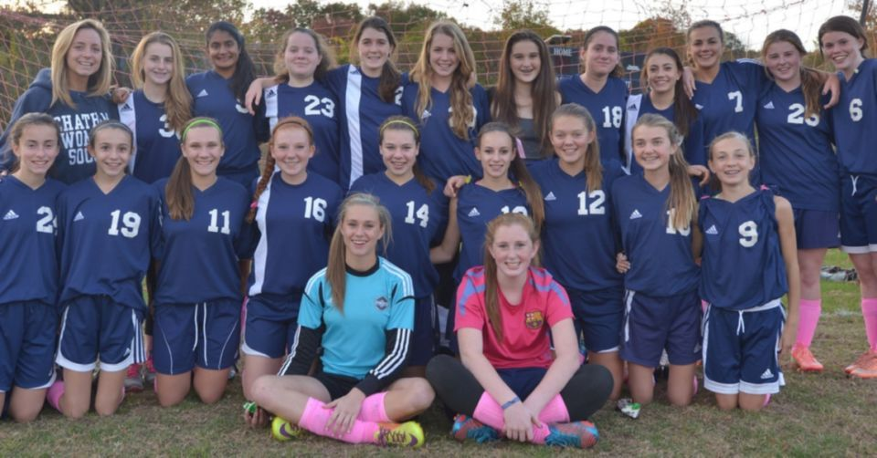 The Chatham freshman soccer girls