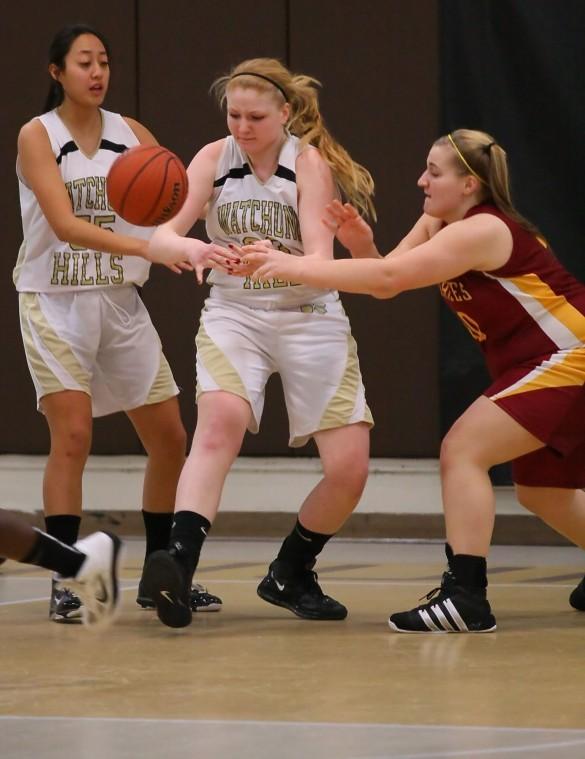 Battling for ball